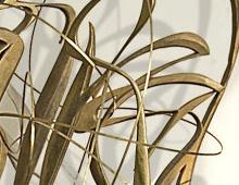 <b>» La folia…»</b>  Sculpture en bois patinée or – juin 2009