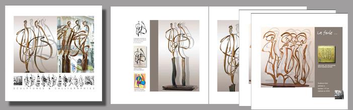 Edition d'un livre sur mes travaux de sculptures calligraphiques 2013